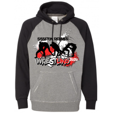 Sisseton T Wrestling  J. America - Vintage Heather Hooded Sweatshirt