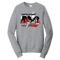 Sisseton T Wrestling Port & Company® Fan Favorite™ Fleece Crewneck Sweatshirt