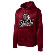 Sisseton Wrestling Sport-Tek® Sport-Wick® CamoHex Fleece Hooded Pullover