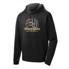Wilmot Volleyball Sport-Tek® Sport-Wick® Fleece Colorblock Hooded Pullover