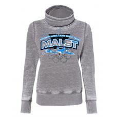 MALST J. America - Women's Zen Fleece Cowl Neck Sweatshirt